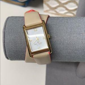 Kate Spade Champagne Cooper Wrap Watch